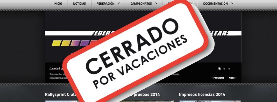"""<a href=""""http://www.fa-ib.com/2018/07/cerrado-del-23-de-julio-al-30-de-agosto/""""><b>Cerrado del 23 de Julio al 30 de Agosto</b></a><p>El servicio de atención al público de la Federació d'Automobilisme de les Illes Baleares permanecerá cerrado desde el 23 de Julio hasta el 30 de Agosto (ambos inclusive). El 13</p>"""