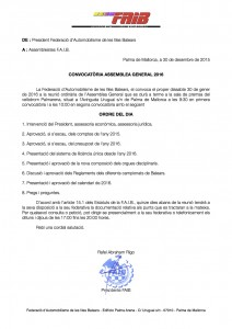 CONVOCATORIA ASSEMBLEA GENERAL 2016