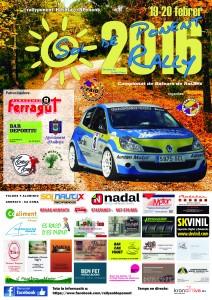 Cartel Rally Sol de Ponent 2016 A4