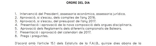 CONVOCATORIA ASAMBLEA GENERAL FAIB 2017