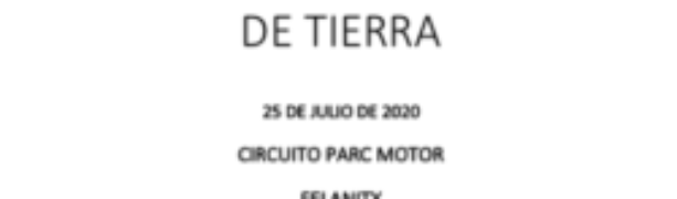 ACTUALIZACION : I CRONOMETRADA EN TRAMO DE TIERRA